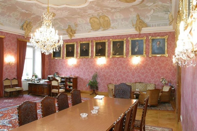 In one of the rooms of the Town Hall of St. Pelten