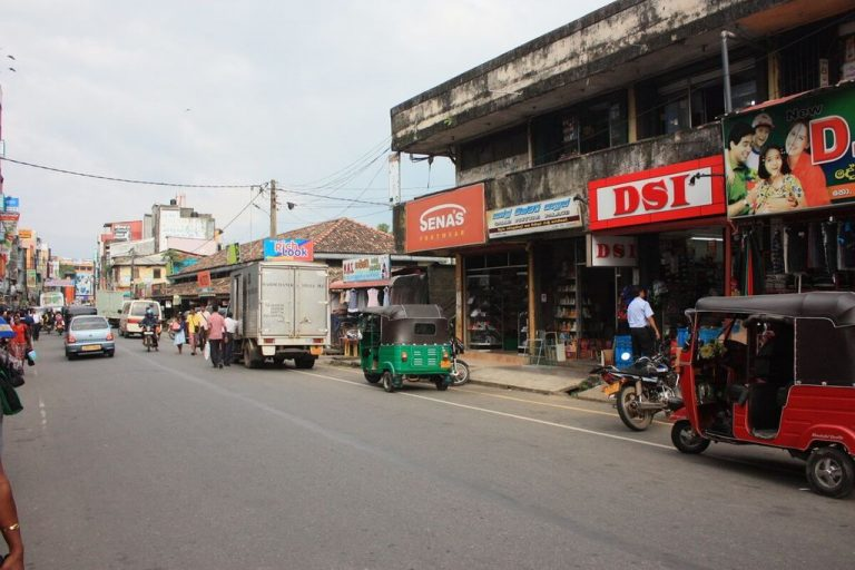 The new part of the city of Galle
