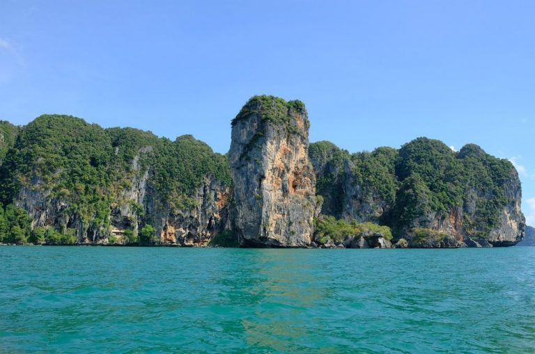 High mountains on Railay Beach
