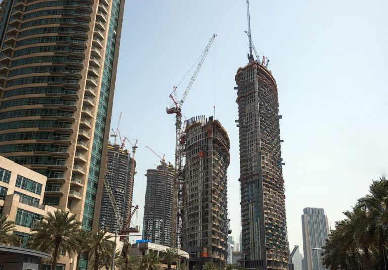 High noise levels due to continuous construction
