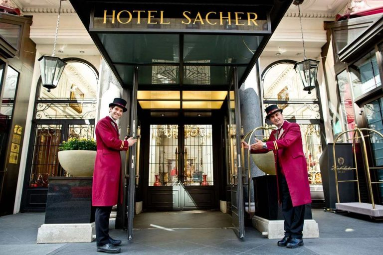 Entrance to the Sacher Hotel