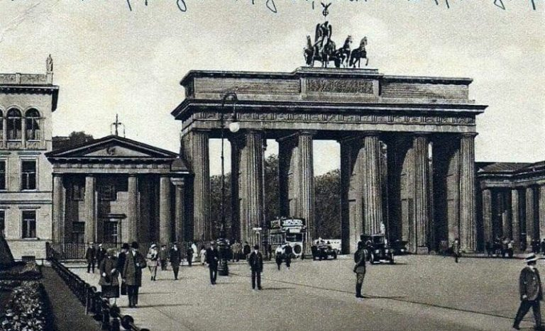 Brandenburg Gate at the end of the 19th century