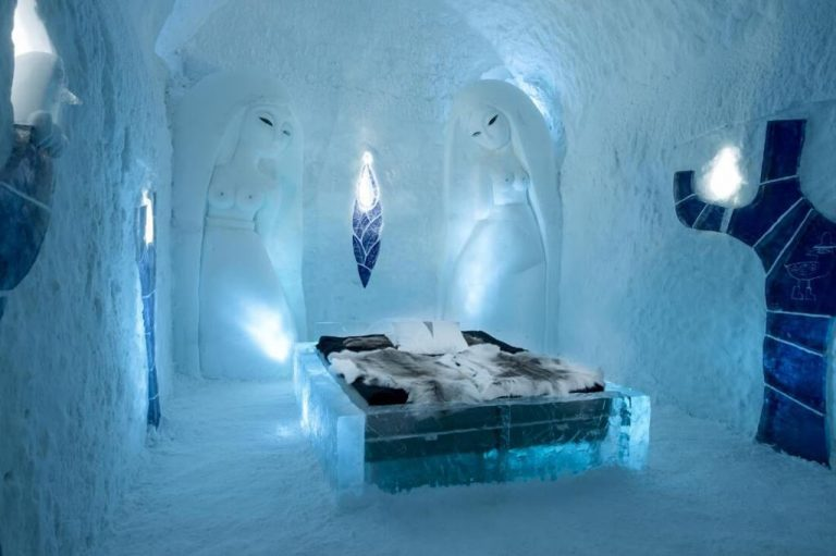 One of the premises of the Ice Hotel