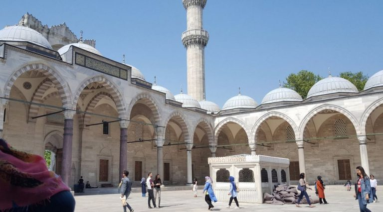 In the courtyard of the Suleymaniye Mosque