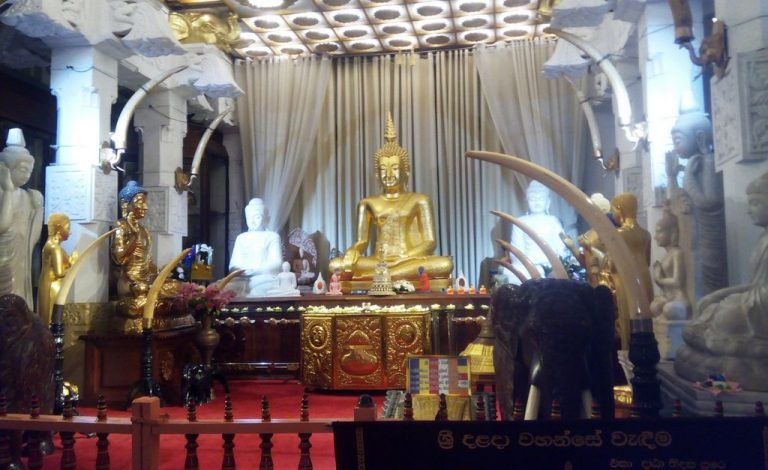 At the Buddha Tooth Temple