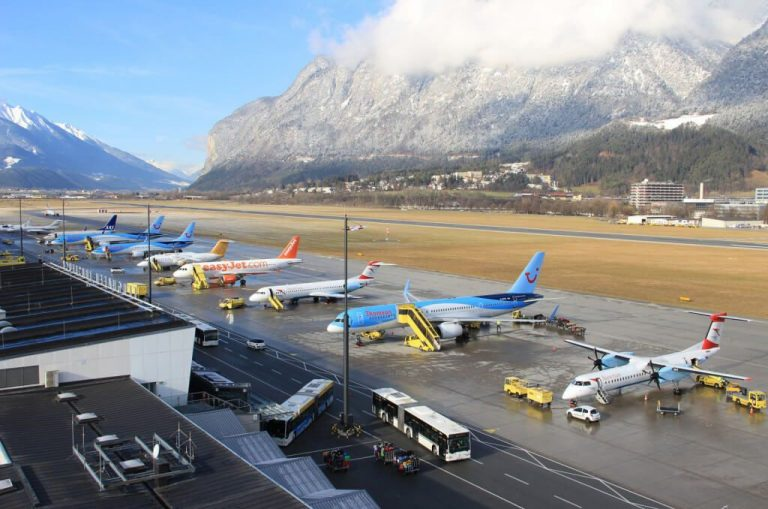 Airport in the city of Innsbruck