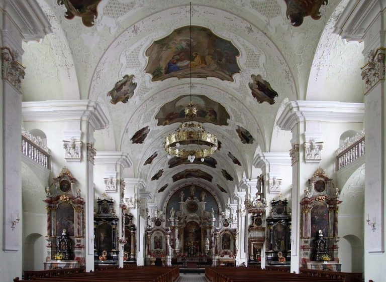 Interior of the Benedictine monastery, Engelberg