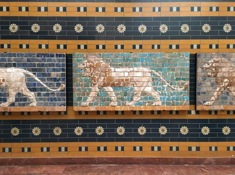 Parts of the facade of the Ishtar Gate