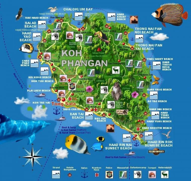 Map of Phangan Island