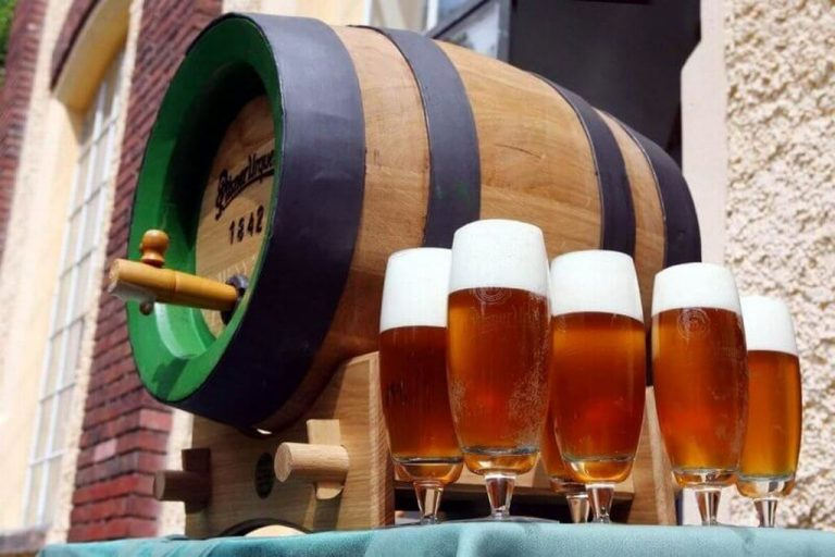 Beer barrel on the street