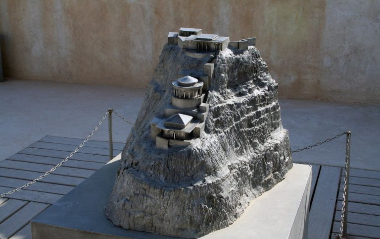 Model of the fortress-palace Masada
