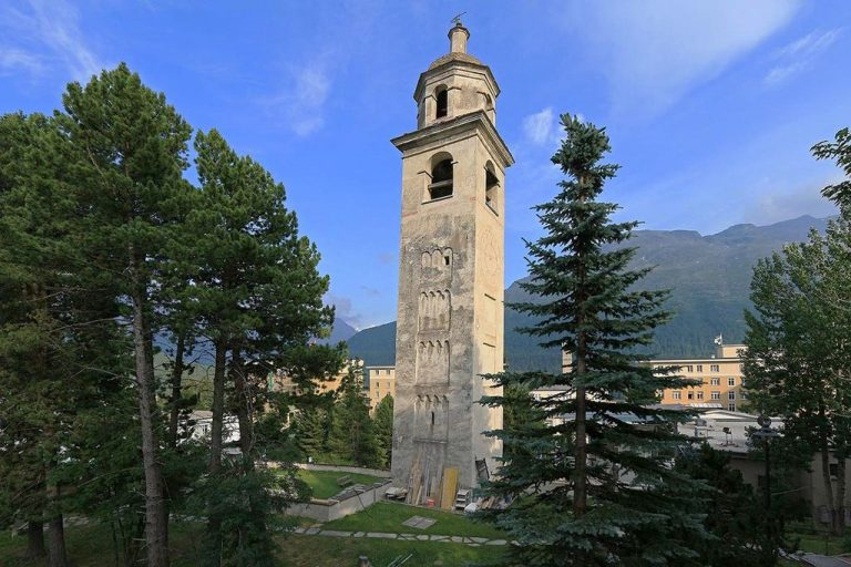 Leaning tower in St. Moritz