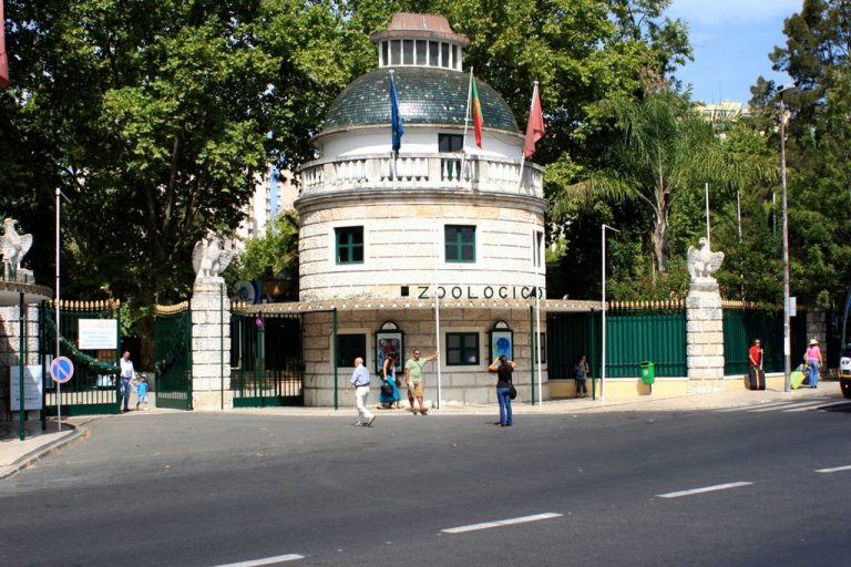 Entrance to the zoo in Lisbon