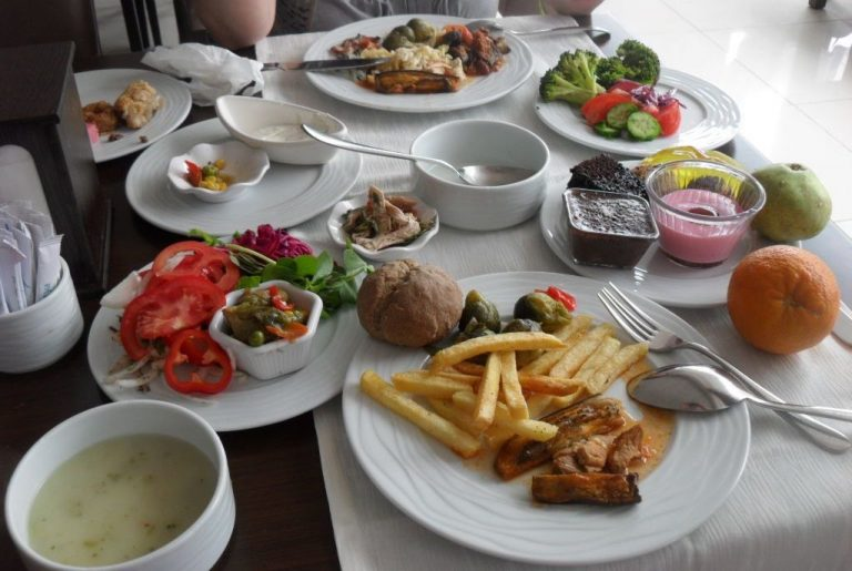 Lunch at an inexpensive cafe in Ankara