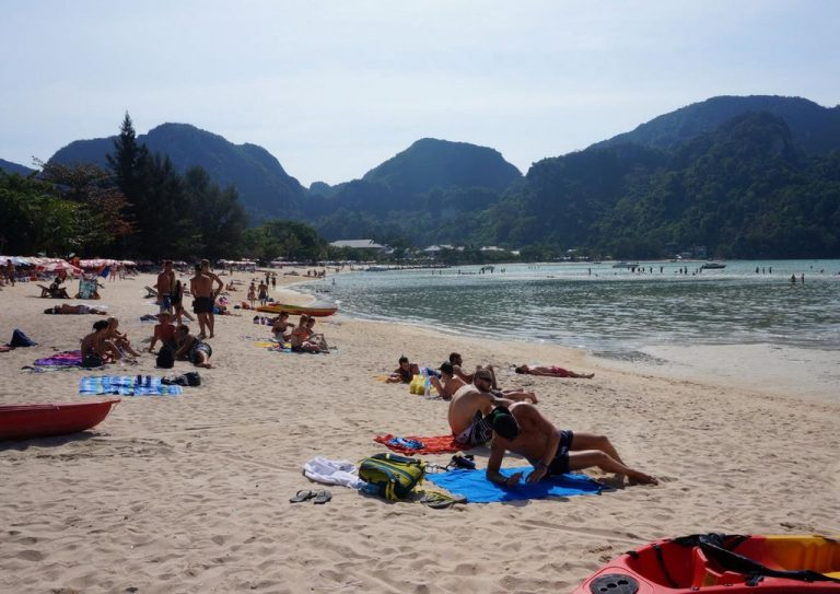 Beach on the island of Phi Phi Don