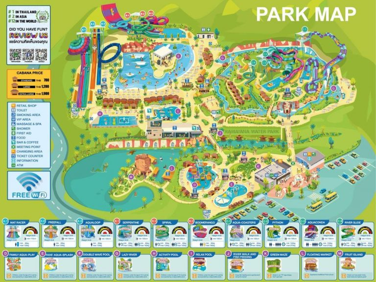 Map of water park Ramayana