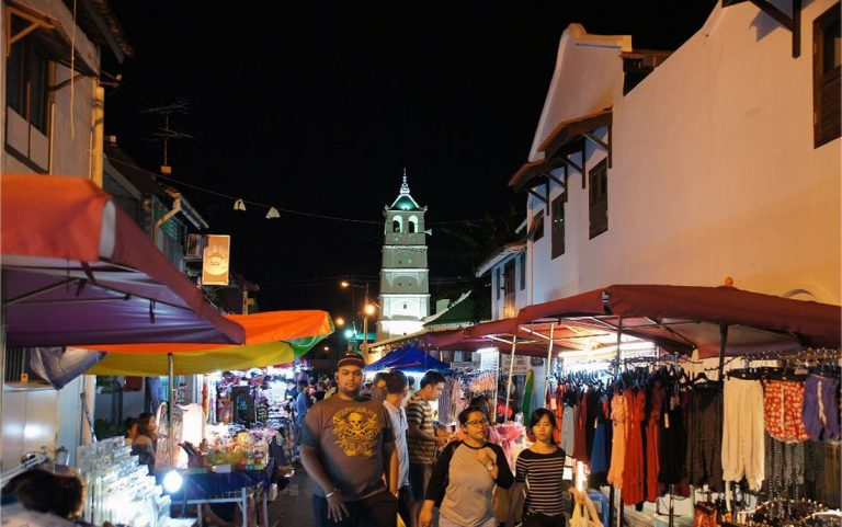 Malacca Yonker Street in the evening