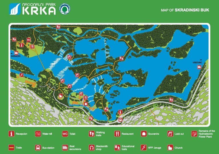 Map of Krk National Park