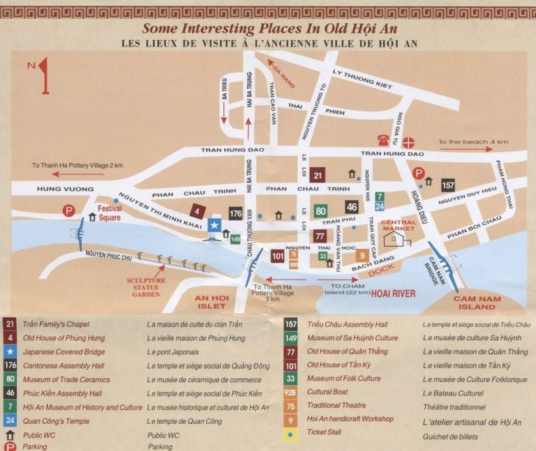 Map of Hoi An Old Town