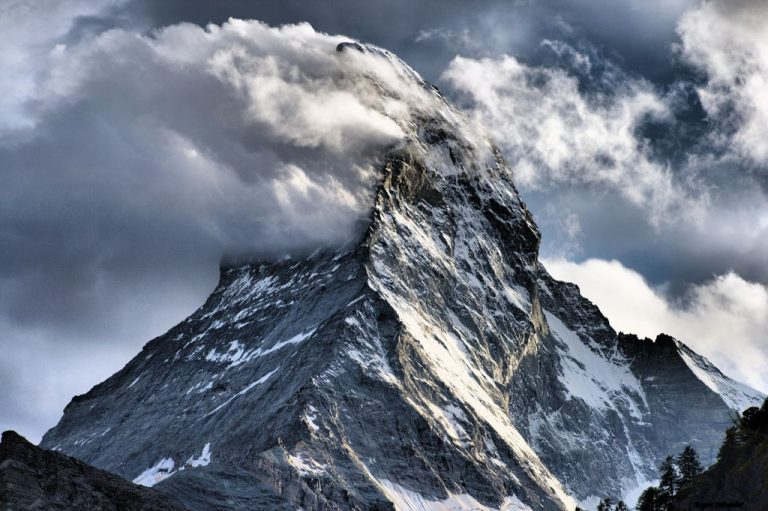 Matterhorn in the clouds