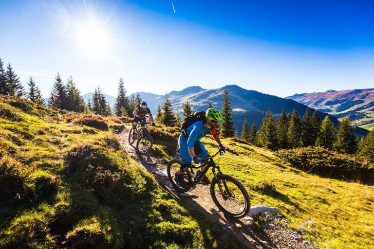 Mountain bike in Saalbach Hinterglemm in Austria