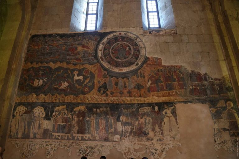 Frescoes inside Svetitskhoveli Cathedral