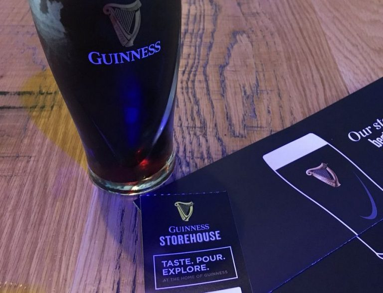 You can exchange a ticket for a glass of beer