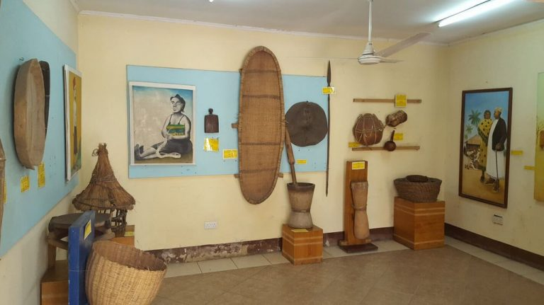 Exhibits at the National Museum