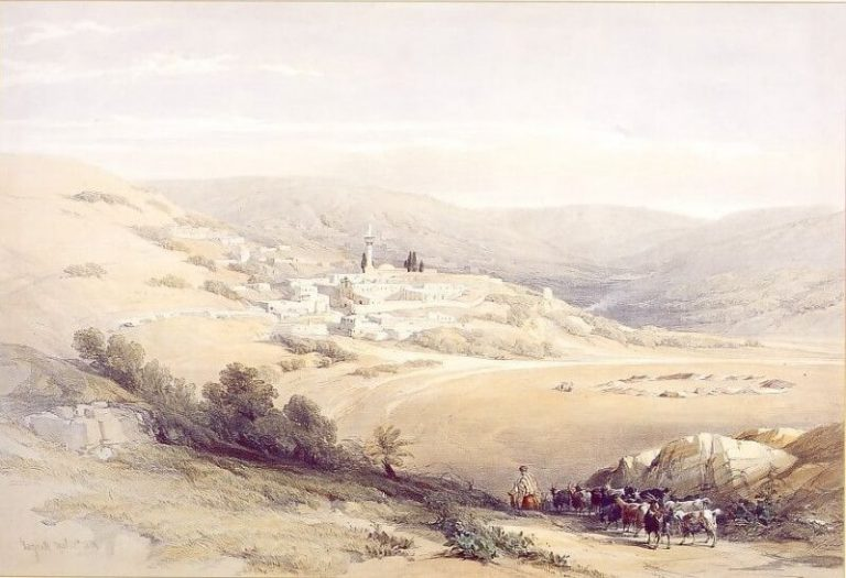 This is what Nazareth looked like in 1842