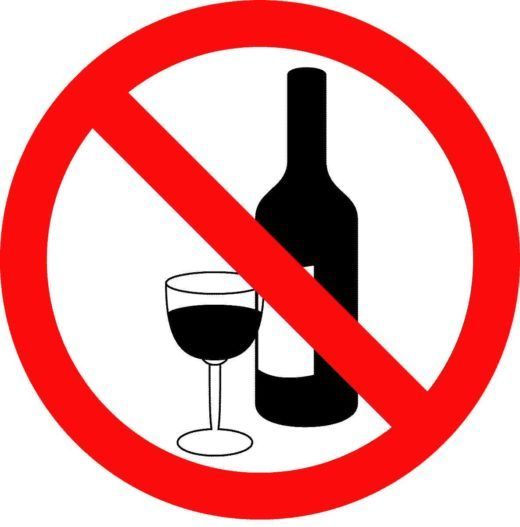 No to alcohol!