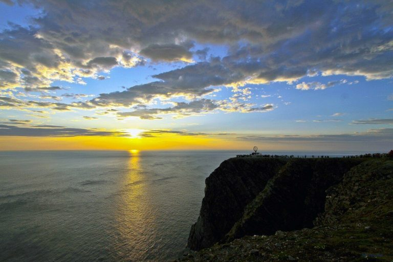 Sunset on the North Cape