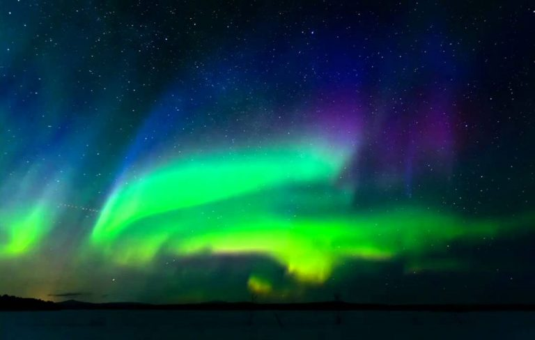 You can enjoy the northern lights