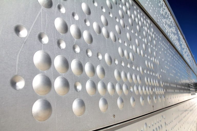 Sheets of aluminum, the surface of which is decorated with a pattern