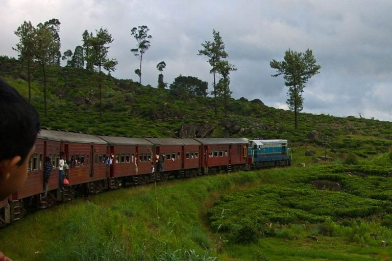 In a train to Nuwara Eliya