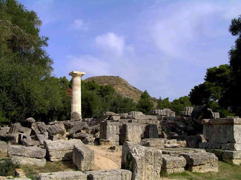 Olympia at the foot of Kronion Hill