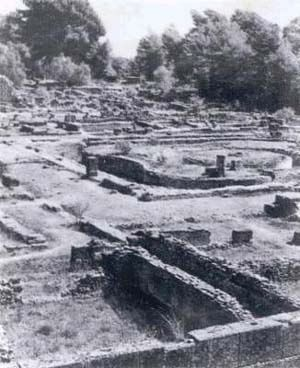 Olympia during the excavation