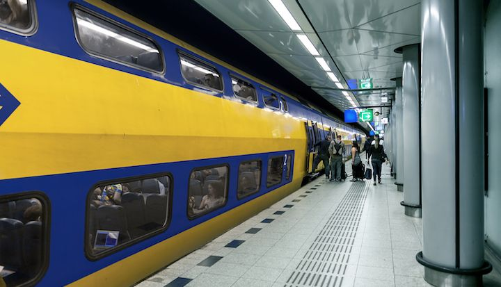 Train at Schiphol Airport