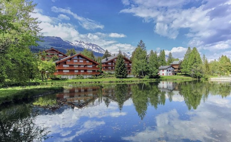 On the lake in Crans-Montana