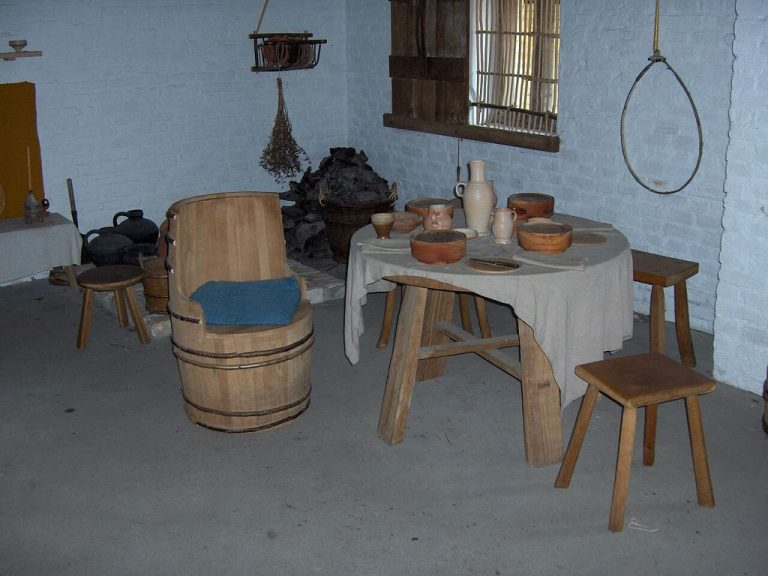 Reconstruction of the interior in a fishing house