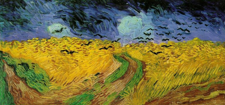 """Painting """"Wheat Field with Ravens"""""""