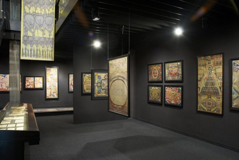 Paintings at the Collection de l'Art Brut Museum