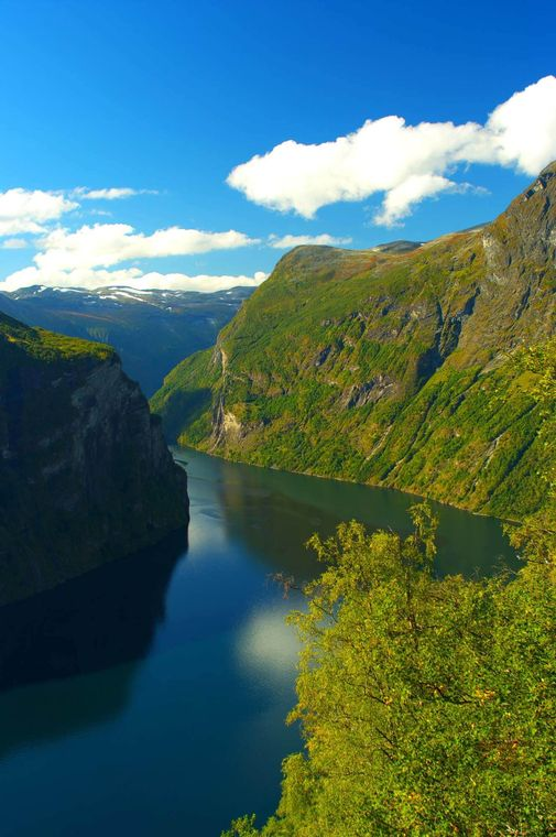 Great Sognefjord in the summer