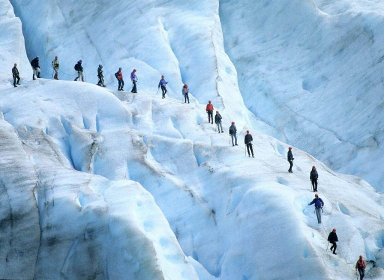 Climbing the Justedalsbreen Glacier