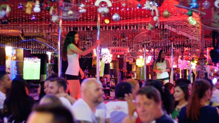 At the strip bar on Walking Street in Pattaya