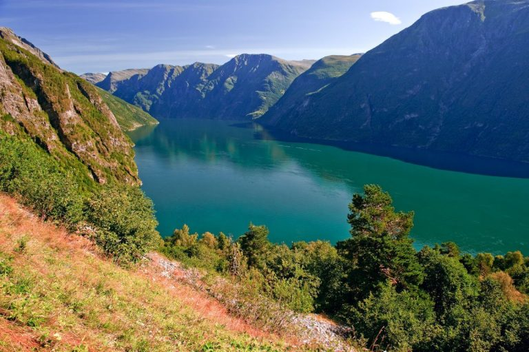 View of Geiranger Fjord