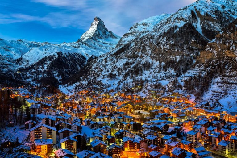 Zermatt night town
