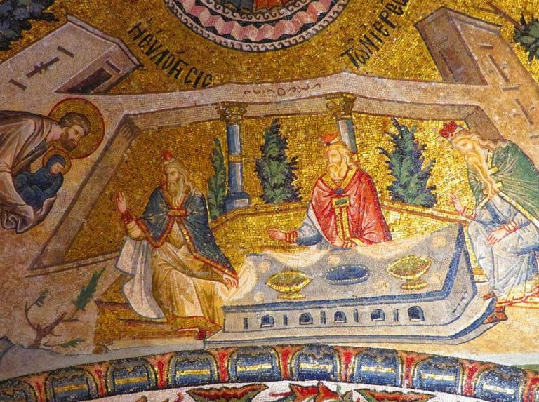 Mosaics at the Choir Museum decorate the walls