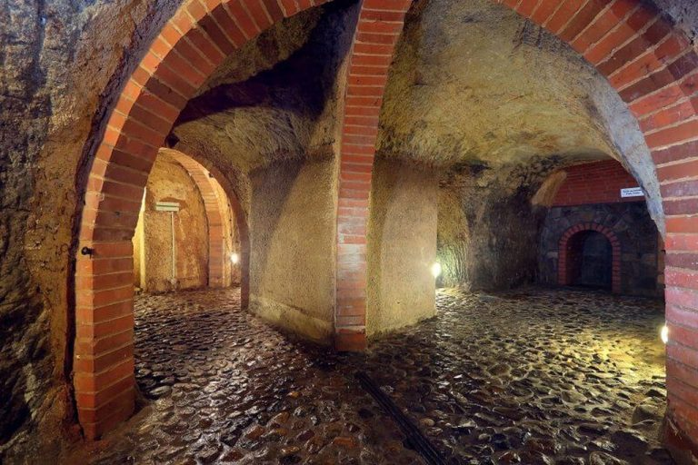 Plzen historical dungeon in the Czech Republic