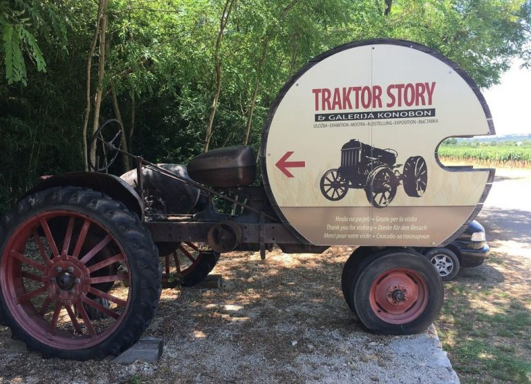 Pointer to the Traktor Story Museum