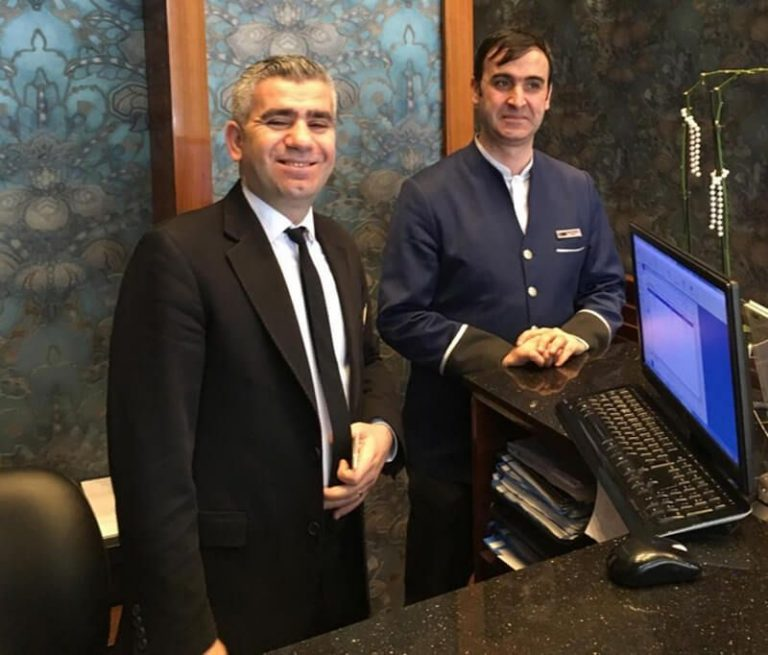 Friendly staff at Polatdemir Hotel